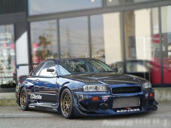 FULL MODIFIED NISSAN SKYLINE GTR R34 FOR SALE