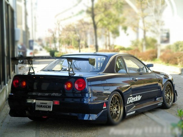 FULL MODIFIED NISSAN SKYLINE GTR R34 FOR SALE JAPAN - CAR ON TRACK