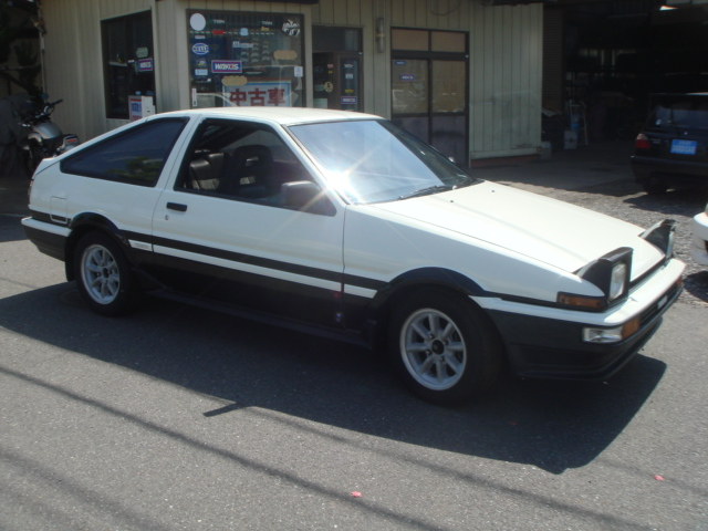 1986year toyota sprinter trueno twin cam gt apex koki ae86. Black Bedroom Furniture Sets. Home Design Ideas